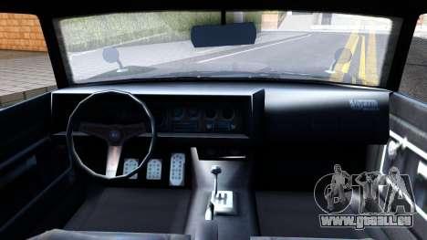GTA V Declasse Vigero pour GTA San Andreas vue intérieure