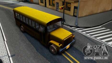 School Bus Driver Parallel Lines pour GTA San Andreas vue de droite