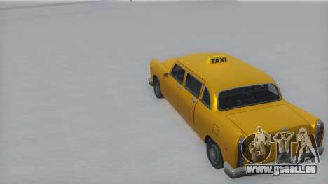 Cabbie Winter IVF für GTA San Andreas zurück linke Ansicht