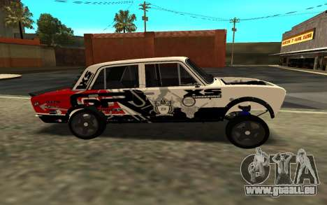 VAZ 2106 DRIFT für GTA San Andreas zurück linke Ansicht