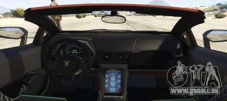 GTA 5 Lamborghini Centenario LP 770-4 Roadster arrière vue latérale gauche