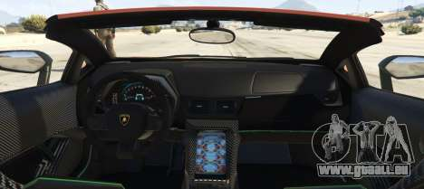GTA 5 Lamborghini Centenario LP 770-4 Roadster hinten links Seitenansicht
