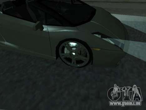 Lamborghini Galardo Spider pour GTA San Andreas vue intérieure