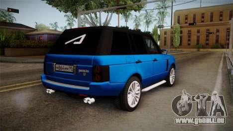 Range Rover 2008 für GTA San Andreas linke Ansicht