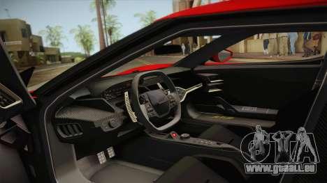 Ford GT 2017 No Stripe pour GTA San Andreas vue intérieure