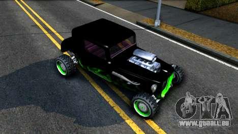Green Flame Hotknife Race Car für GTA San Andreas rechten Ansicht