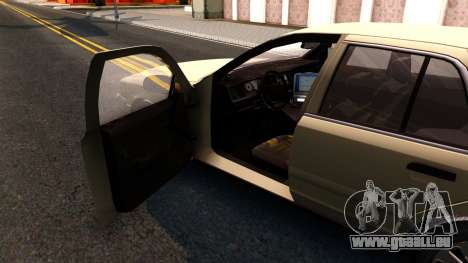Ford Crown Victoria Unmarked 2009 pour GTA San Andreas vue intérieure