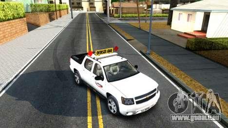 2007 Chevy Avalanche - Pilot Car für GTA San Andreas Rückansicht