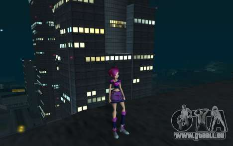 Tecna Rock Outfit from Winx Club Rockstars pour GTA San Andreas