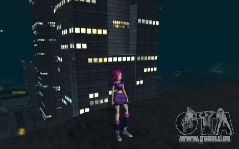 Tecna Rock Outfit from Winx Club Rockstars pour GTA San Andreas