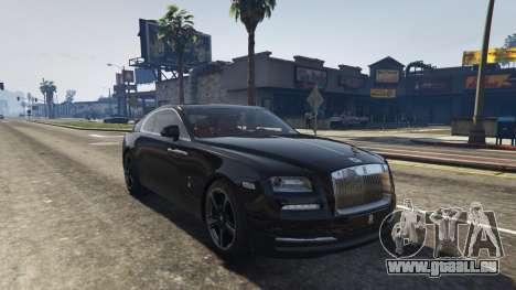 GTA 5 Rolls-Royce Wraith 2015 Rückansicht