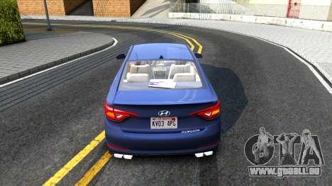 Hyundai Sonata 2016 für GTA San Andreas rechten Ansicht