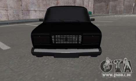 VAZ 2107 Black Jack für GTA San Andreas zurück linke Ansicht
