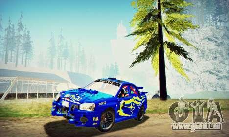 Subaru Impreza WRX STI WRC Rally 2005 für GTA San Andreas Seitenansicht