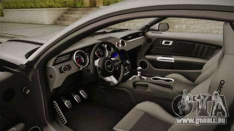 Ford Mustang RTR Spec 2 2015 pour GTA San Andreas vue intérieure