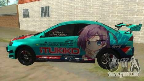 Tsukiko Itasha Evo X Vinyl für GTA San Andreas linke Ansicht