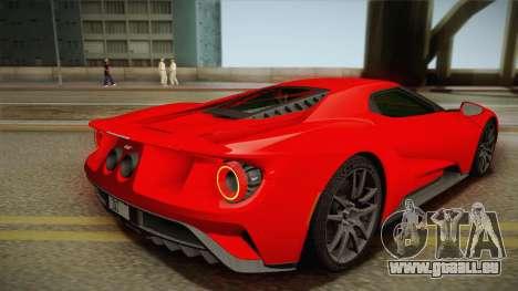 Ford GT 2017 No Stripe pour GTA San Andreas laissé vue