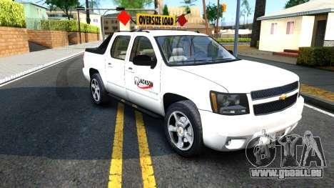 2007 Chevy Avalanche - Pilot Car für GTA San Andreas