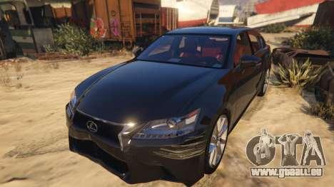 GTA 5 Lexus GS 350 vue arrière