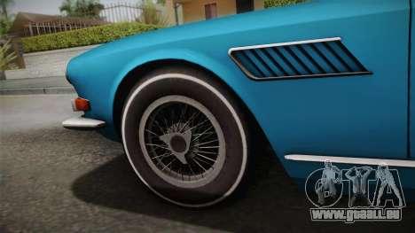 Maserati Serbin 4000 v0.1 (Beta) pour GTA San Andreas sur la vue arrière gauche