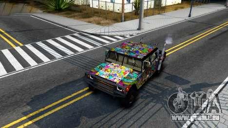 Sticker Patriot für GTA San Andreas Innenansicht