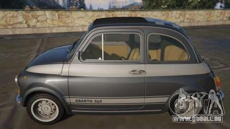 GTA 5 Fiat Abarth 595ss Racing ver vue latérale gauche