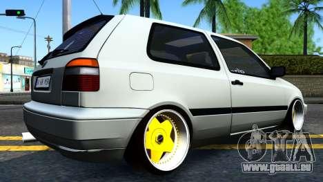 Volkswagen Golf 3 Low pour GTA San Andreas laissé vue