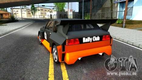 Rally Club für GTA San Andreas Rückansicht