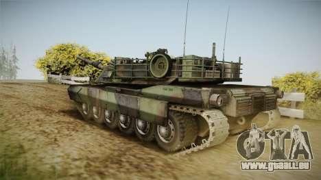 Abrams Tank Woolant Camo pour GTA San Andreas laissé vue
