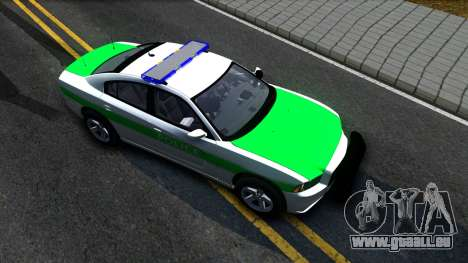 Dodge Charger German Police 2013 pour GTA San Andreas vue de droite
