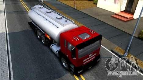 GTA V MTL Dune Oil Tanker für GTA San Andreas Rückansicht