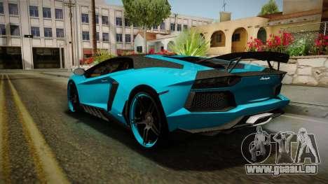 Lamborghini Aventador Itasha Rias Gremory pour GTA San Andreas vue de droite