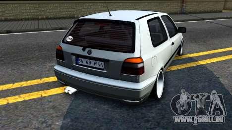 Volkswagen Golf 3 Low pour GTA San Andreas vue de droite