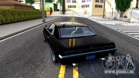 GTA V Declasse Vigero pour GTA San Andreas sur la vue arrière gauche