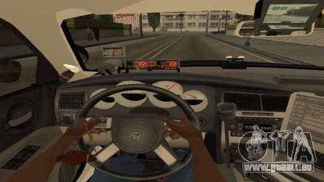 Dodge Charger County Sheriff pour GTA San Andreas vue de dessus