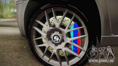 BMW X5M 2012 Special pour GTA San Andreas sur la vue arrière gauche
