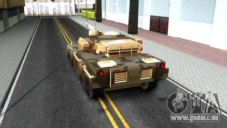 Rhino GTA V pour GTA San Andreas vue arrière