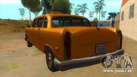 VC Cabbie Xbox pour GTA San Andreas sur la vue arrière gauche