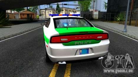 Dodge Charger German Police 2013 für GTA San Andreas zurück linke Ansicht