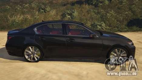 GTA 5 Lexus GS 350 vue latérale gauche