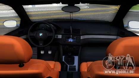 BMW M5 E39 pour GTA San Andreas vue intérieure