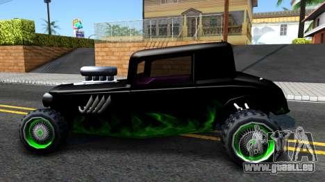 Green Flame Hotknife Race Car pour GTA San Andreas laissé vue