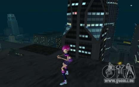 Tecna Rock Outfit from Winx Club Rockstars pour GTA San Andreas deuxième écran