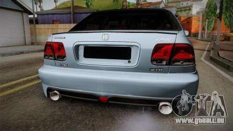 Honda Civic Turbo pour GTA San Andreas vue intérieure