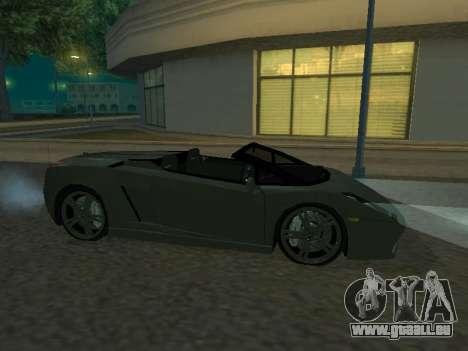 Lamborghini Galardo Spider pour GTA San Andreas sur la vue arrière gauche