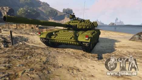GTA 5 Tank T-72 vue arrière