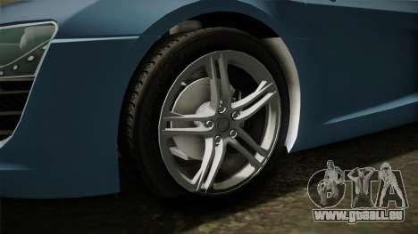 Audi R8 Coupe 4.2 FSI quattro EU-Spec 2008 YCH für GTA San Andreas Rückansicht