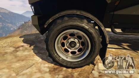 GTA 5 Punisher Black Armed Version arrière droit vue de côté