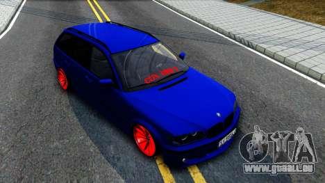 BMW E46 Touring Facelift pour GTA San Andreas vue de droite