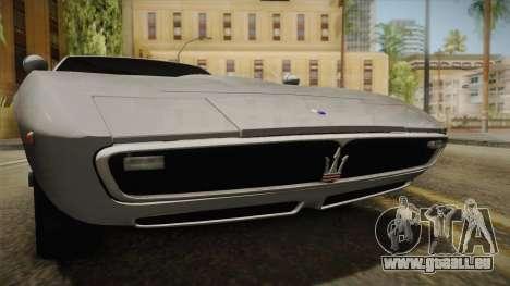 Maserati Ghibli v0.1 (Beta) pour GTA San Andreas vue arrière